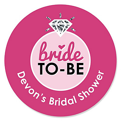 bride to be bridal shower or classy bachelorette party party sticker labels 24 ct bigdotofhappinesscom