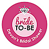 Bride-To-Be - Personalized Bridal Shower or Classy Bachelorette Party Sticker Labels - 24 ct
