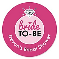 bride to be personalized bridal shower or classy bachelorette party sticker labels 24 ct