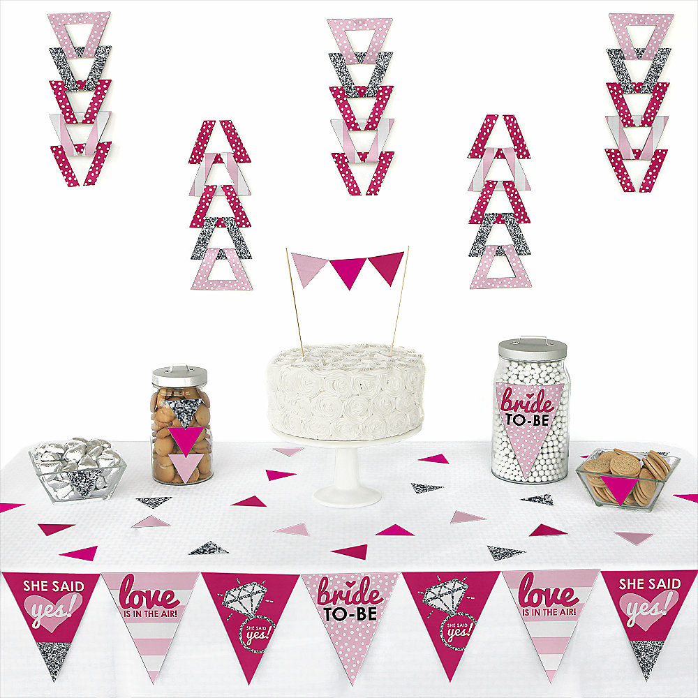 more views bride to be triangle bridal shower or classy bachelorette party decoration