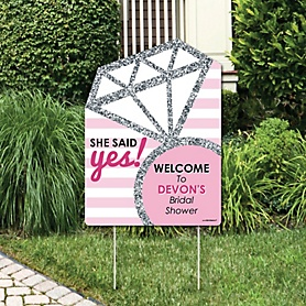 Bride-To-Be - Party Decorations - Bridal Shower or Classy Bachelorette Party Personalized Welcome Yard Sign