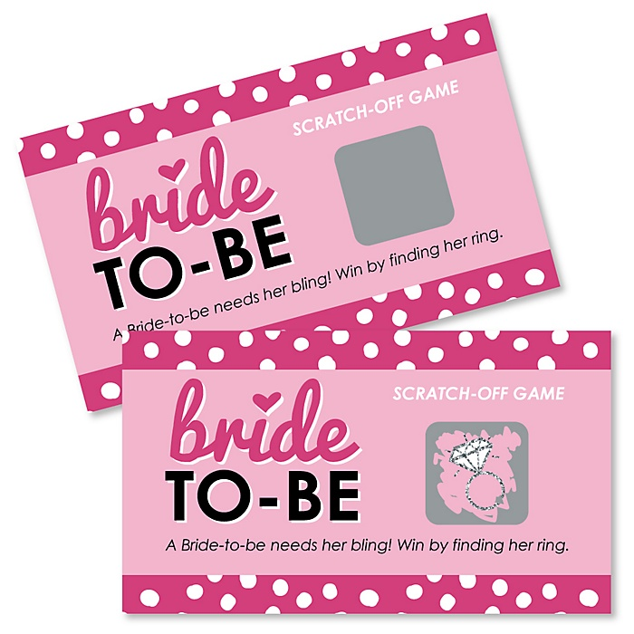 Bride-To-Be - Bridal Shower Game Scratch Off Cards - 22 ct