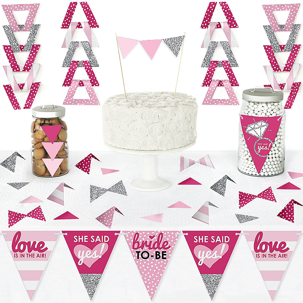 Bride To Be Diy Pennant Banner Decorations Bridal Shower Or Classy Bachelorette Party Triangle Kit 99 Pieces