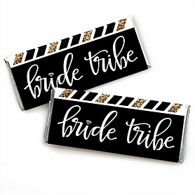 Bride Tribe -  Candy Bar Wrappers Bachelorette Party & Bridal Shower Favors - Set of 24