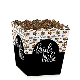 Bride Tribe - Party Mini Favor Boxes - Personalized Bachelorette Party & Bridal Shower Treat Candy Boxes - Set of 12