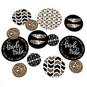 Bride Tribe - Bachelorette Party Giant Circle Confetti - Bridal Shower Decorations - Large Confetti 27 Count