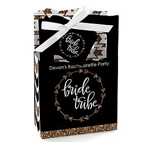 Bride Tribe - Personalized Bachelorette Party & Bridal Shower Favor Boxes - Set of 12