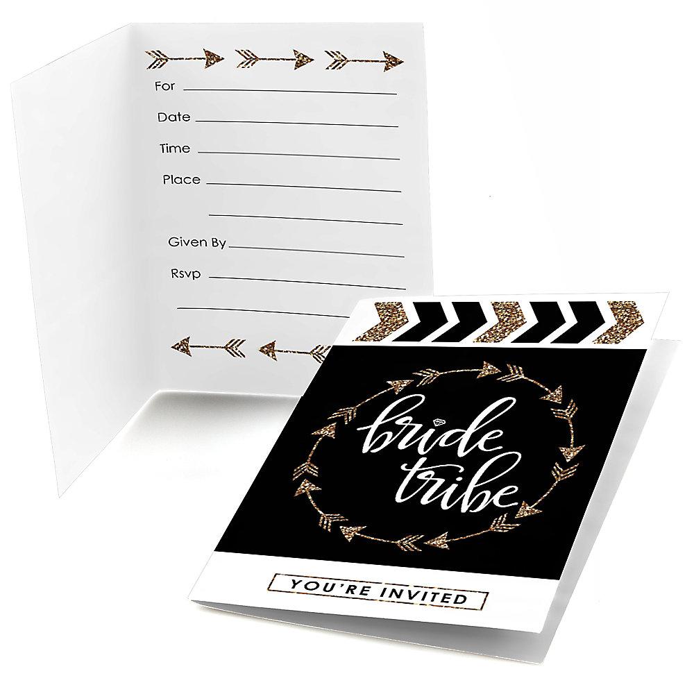 Bride Tribe Bachelorette Party Bridal Shower Fill In Invitations