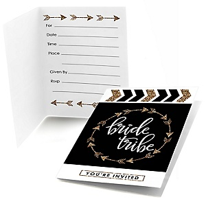 Bride Tribe - Bachelorette Party & Bridal Shower Fill In Invitations - 8 ct