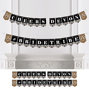 Bride Tribe - Personalized Bachelorette Party & Bridal Shower Bunting Banner & Decorations
