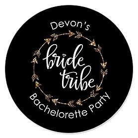 Bride Tribe - Personalized Bachelorette Party & Bridal Shower Sticker Labels - 24 ct