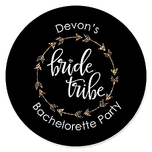 Bride Tribe - Personalized Bachelorette Party & Bridal Shower Sticker Labels - 24 ct