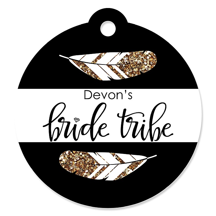 Bride Tribe - Personalized Bachelorette Party & Bridal Shower Tags - 20 ct