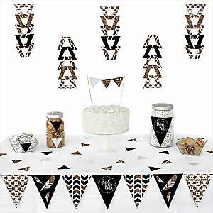 Bride Tribe -  Triangle Bachelorette Party & Bridal Shower Decoration Kit - 72 Piece