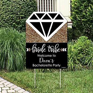 Bride Tribe - Party Decorations - Bachelorette Party or Bridal Shower Personalized Welcome Yard Sign