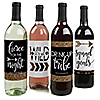 Bride Tribe - Bachelorette Party & Bridal Shower Wine Bottle Label Stickers - Set of 4