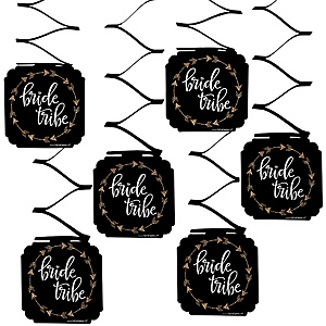 Bride Tribe - Bachelorette Party & Bridal Shower Hanging Decorations - 6 ct