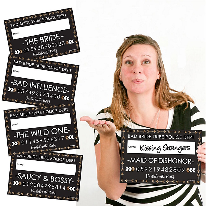 Bride Tribe - Bachelorette & Bridal Shower Party Mug Shots - 20 Piece Photo Booth Props Kit
