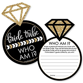 Bride Tribe - Bridal Shower or Bachelorette Party Game - Who Am I Game Cards - Set of 20
