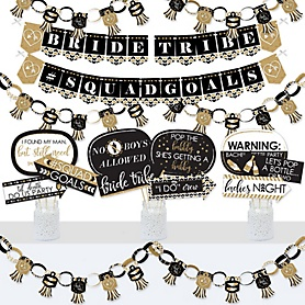 Bride Tribe - Banner and Photo Booth Decorations - Bridal Shower or Bachelorette Party Supplies Kit - Doterrific Bundle
