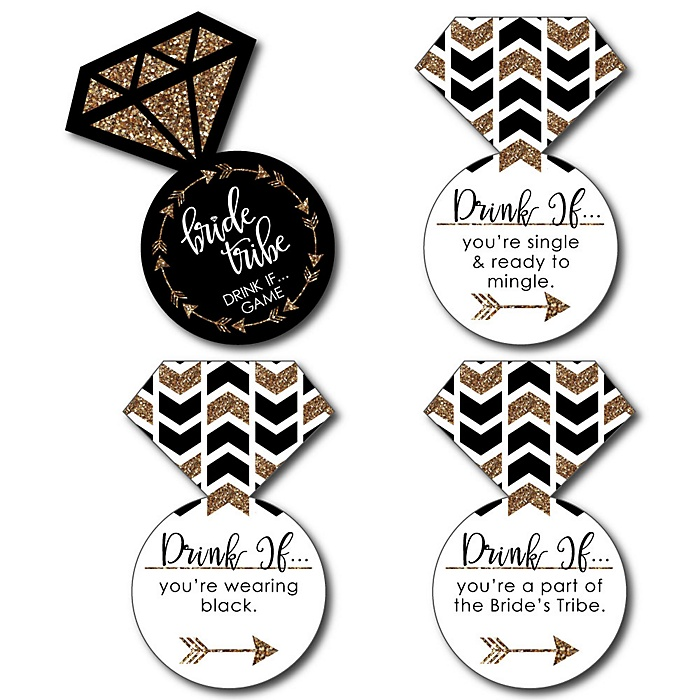 Bride Tribe - Drink If Bachelorette Party or Bridal Shower Game