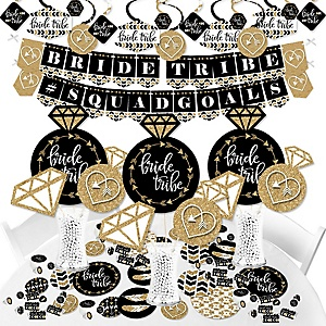 Bride Tribe - Bridal Shower or Bachelorette Party Supplies - Banner Decoration Kit - Fundle Bundle