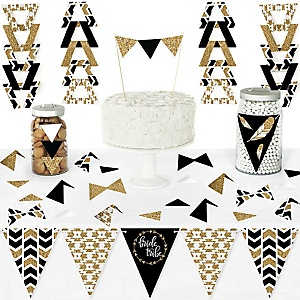 Bride Tribe - DIY Pennant Banner Decorations - Bridal Shower or Bachelorette Party Triangle Kit - 99 Pieces