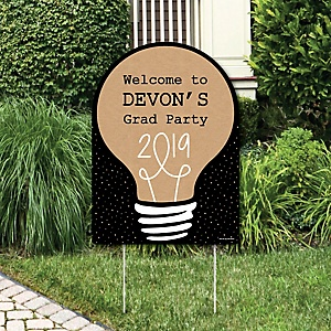 Bright Future - Party Decorations - 2019 Graduation Party Personalized Welcome Yard Sign