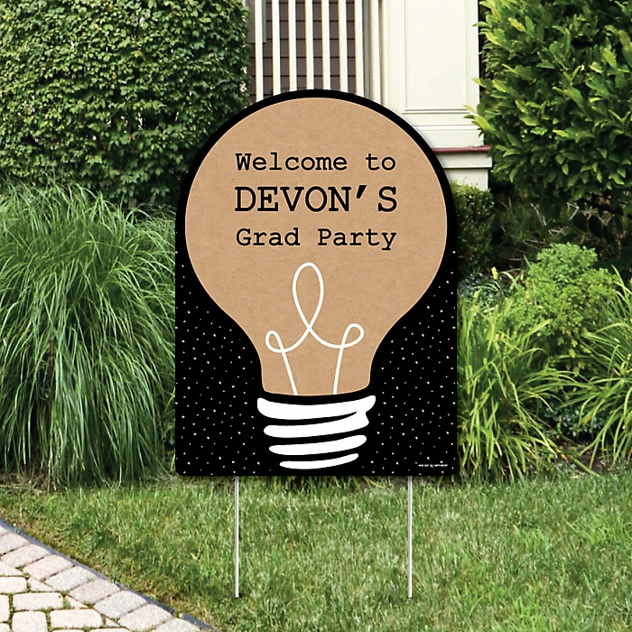 Bright Future - Party Decorations - Graduation Party Personalized Welcome Yard Sign