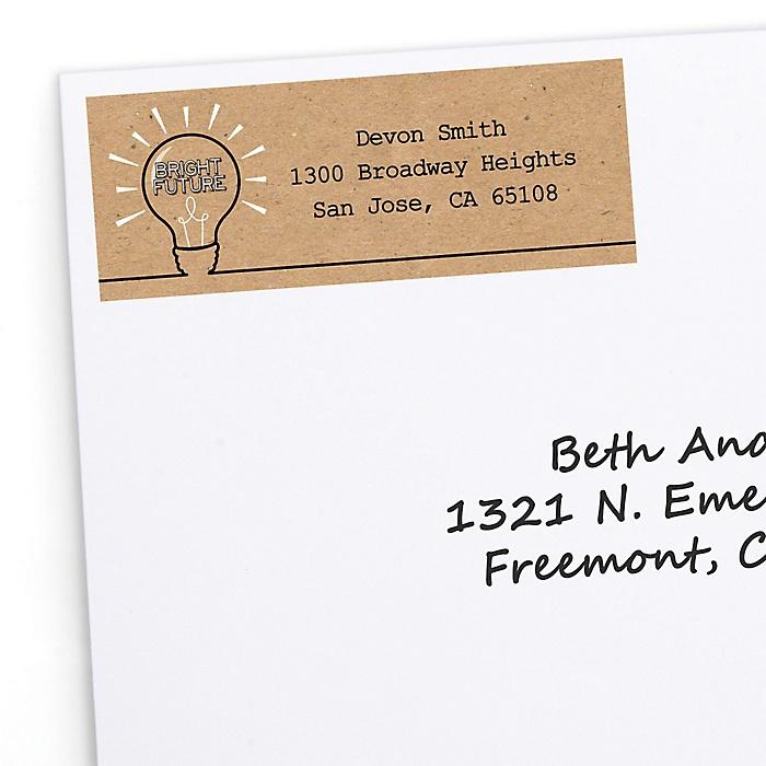 Bright Future - Personalized Graduation Return Address Labels - 30 ct