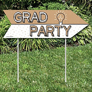 Bright Future - Graduation Party Sign Arrow - Double Sided Directional Yard Signs - Set of 2
