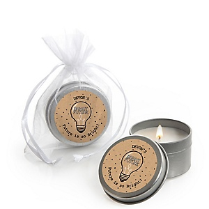 Bright Future - Personalized Graduation Candle Tin Favors - Set of 12