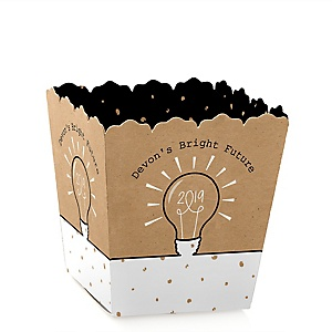 Bright Future - Party Mini Favor Boxes - Personalized 2019 Graduation Treat Candy Boxes - Set of 12