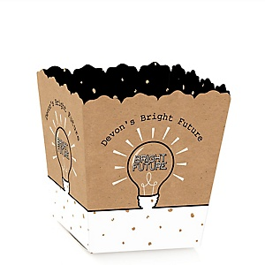 Bright Future - Party Mini Favor Boxes - Personalized Graduation Treat Candy Boxes - Set of 12