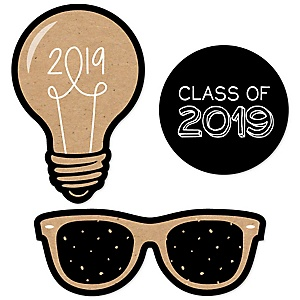 Bright Future - DIY Shaped 2019 Graduation Party Paper Cut-Outs - 24 ct
