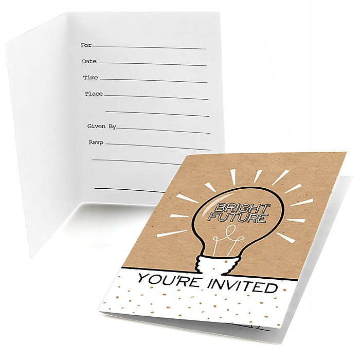 Bright Future - Graduation Party Fill In Invitations - 8 ct