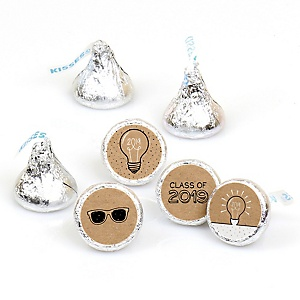 Bright Future - Round Candy Labels 2019 Graduation Party Favors - Fits Hershey's Kisses 108 ct