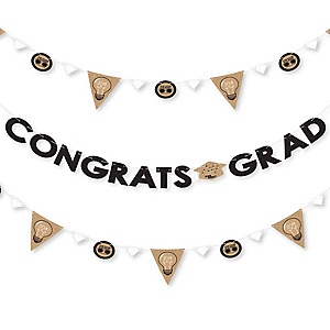 Bright Future - 2019 Graduation Party Letter Banner Decoration - 36 Banner Cutouts and Congrats Grad Banner Letters