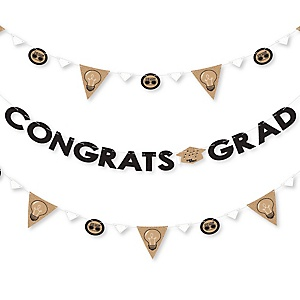 Bright Future - Graduation Party Letter Banner Decoration - 36 Banner Cutouts and Congrats Grad Banner Letters