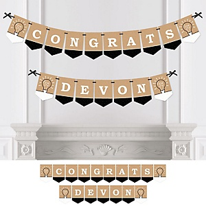 Bright Future - Personalized 2019 Graduation Party Bunting Banner & Decorations