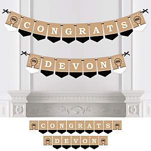 Bright Future - Personalized Graduation Party Bunting Banner & Decorations