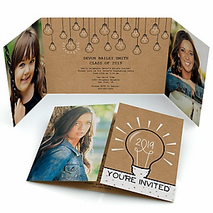 Bright Future - Personalized Photo 2019 Graduation Invitations - Set of 12