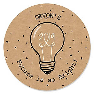 Bright Future - Personalized 2019 Graduation Sticker Labels - 24 ct