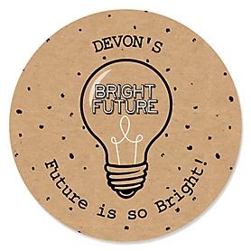 Bright Future - Personalized Graduation Sticker Labels - 24 ct