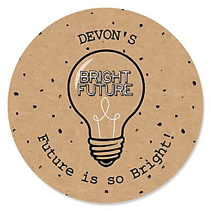Bright Future - Personalized Graduation Sticker Labels - 24 ct