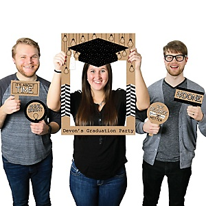 Bright Future - Personalized Graduation Party Selfie Photo Booth Picture Frame & Props - Printed on Sturdy Material