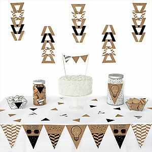 Bright Future -  Triangle Graduation Party Decoration Kit - 72 Piece