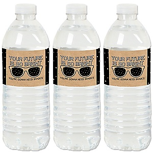 Bright Future - Graduation Party Water Bottle Sticker Labels - Set of 20