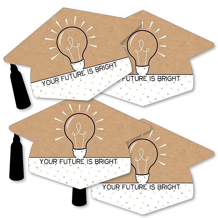 Bright Future - Grad Cap Decorations DIY Graduation Party Essentials - Set of 20