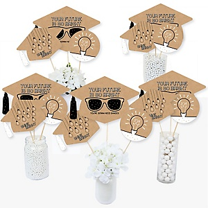 Bright Future - 2019 Graduation Party Centerpiece Sticks - Table Toppers - Set of 15